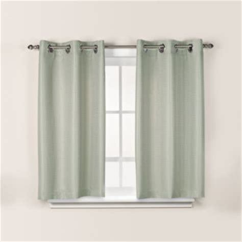 green bathroom window curtains buy hookless 174 waffle 45 inch window curtain in white from bed bath beyond