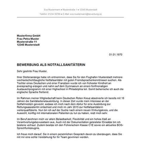 Bewerbungsschreiben Ausbildung Rettungsassistent Bewerbung Als Notfallsanit 228 Ter Notfallsanit 228 Terin Bewerbung Co