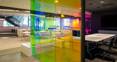 color changing glass bathes  interior    canvas