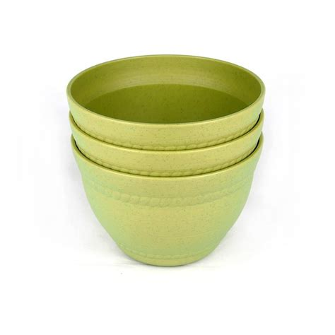 3pcs 6 inch green deluxe colorful ceramic planter green