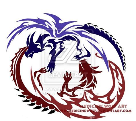 twin dragon design tattoos tattoo ideas pinterest