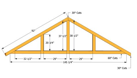 roof plans truss patterns large shed roof plans projects to try