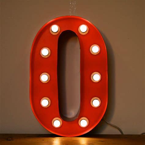 vintage marquee light  letter  orange