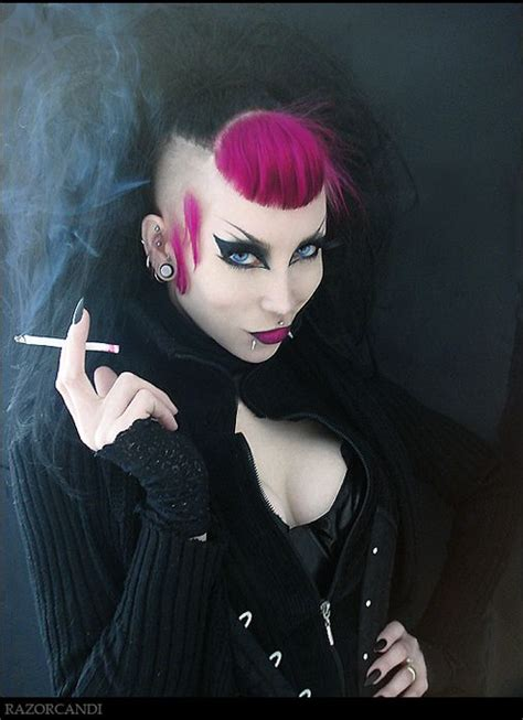death rock makeup gothic models dream hair pinterest