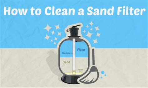 how to clean in how to clean a sand filter