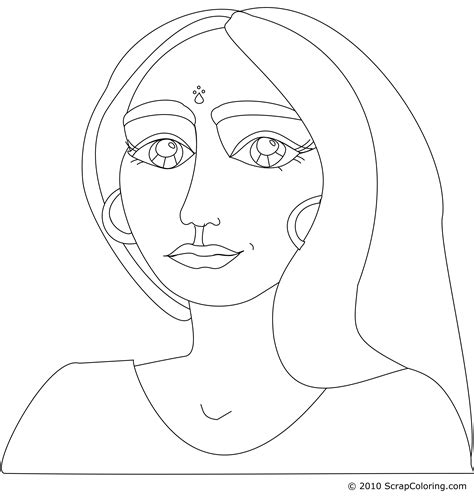 indian face coloring page girl face coloring pages coloring home