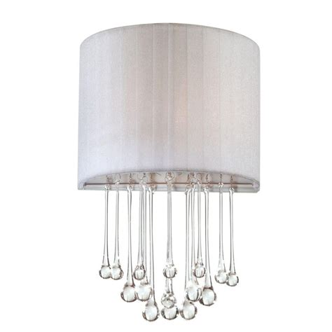White Wall Sconce Eurofase Penchant Collection 1 Light Chrome And White Wall Sconce 16036 031 The Home Depot