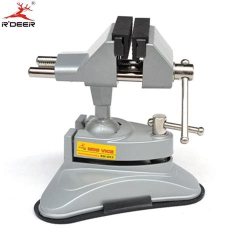 bench screw vise rdeer bench vise universal vacuum suction table vise 360