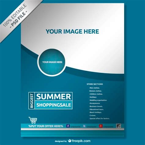 brochure photoshop templates flyer vectors photos and psd files free