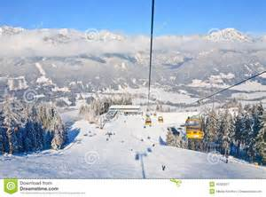 Vacation Cabin Plans Cabin Ski Lift Ski Resort Schladming Austria Editorial