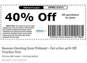 Walmart Automotive Discount Walmart Coupon Scam Is The 40 Percent Coupon On