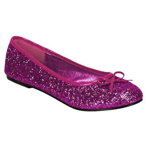 womens glitter ballet pink shoes costume craze