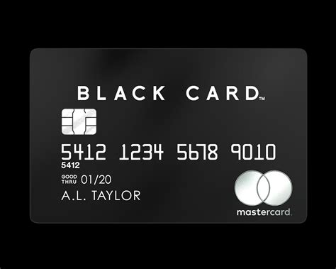 Visa Black Card Template by Mastercard Black Card