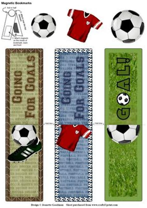 printable bookmarks soccer football soccer goal magnetic bookmarks cup551257 1550