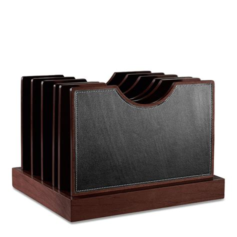 File Desk Organizer Leather Desk Organizer Black Faux Leather Storage Desk Organizer Cubi Adjust A File Large