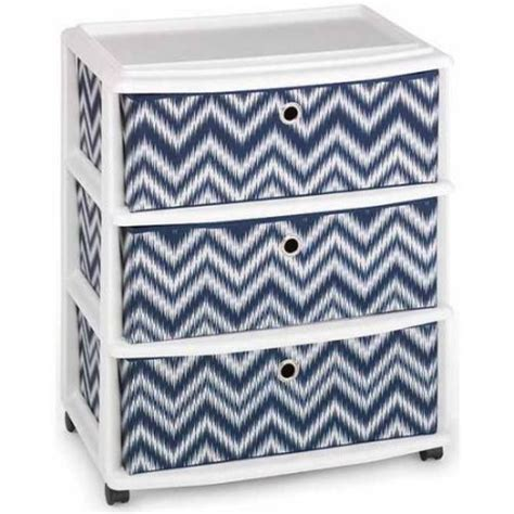 Cloth Drawers Walmart by Homz Wide Cart With 3 Fabric Drawers Set Of 1 Walmart
