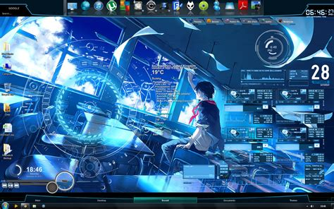 Pc Themes Deviantart | rainmeter desktop by zxien on deviantart