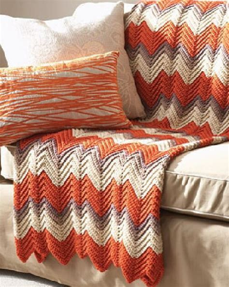 bernat zig zag afghan pattern ripple afghan crochet pattern favecrafts com