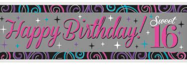 sweet 16 banner template sweet 16 birthday supplies delights