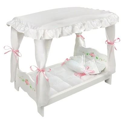 target doll bed badger basket white rose doll canopy bed target