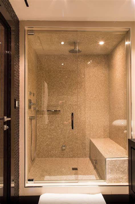 Miami Penthouse Luxury Steam Room Shower Contemporary Bathroom Steam Room Shower
