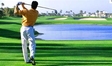 golfer swing improve golf swing with good posture golf ball