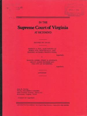 Richmond Va Court Records Virginia Supreme Court Records Volume 234 Virginia Supreme Court Records