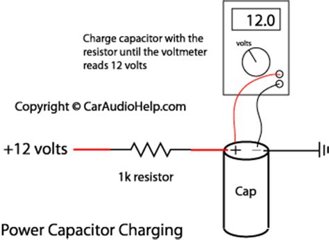how to connect a capacitor to your car sound car audio capacitor installation