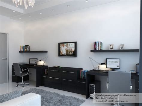 A Cluster Of Creative Home Design Home Office Black Desk