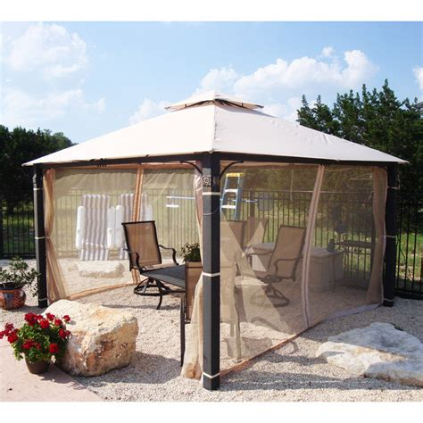 12x12 gazebo academy 12 x 12 square two tiered gazebo replacement