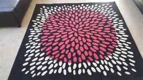 black and pink rug ikea tredklover 6 7 quot square area rug carpet black pink white furniture in fremont ca offerup