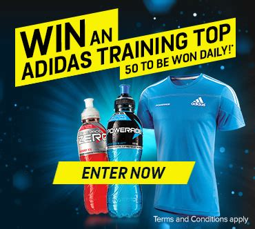 coke powerade instant win adidas shirts competition australian competitions - Instant Win Online Competitions