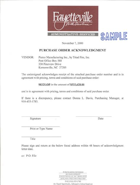 Purchase Order Acceptance Letter sle letter of acknowledgement purchase order docoments ojazlink