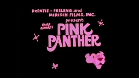 The New Of Pinko by The New Pink Panther Show Pink Blue Plate Title Card With