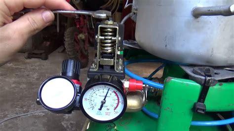 how to set air compressor shut valve