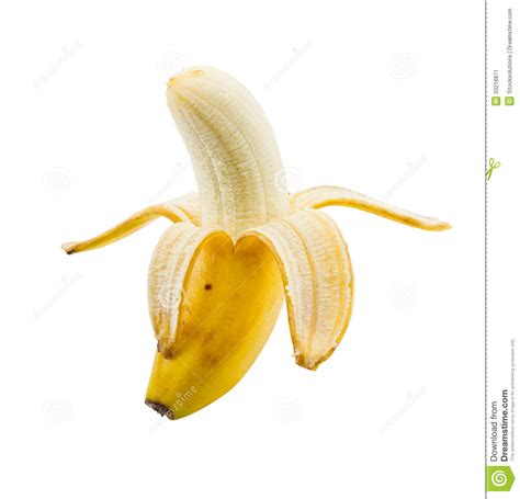 small picture small peeled banana stock image image of peel object