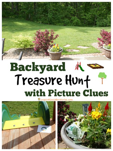 backyard treasure hunt with picture clues inspiration