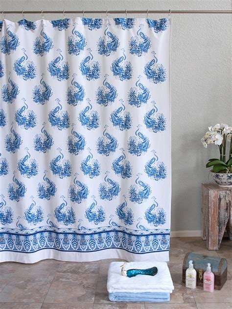 blue and white toile curtains blue and white toile shower curtain classics naiya shower