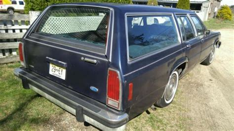 blue station wagon 1984 ford crown ltd blue station wagon one owner