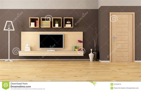 living room with led tv brown living room with led tv stock images image 31316074