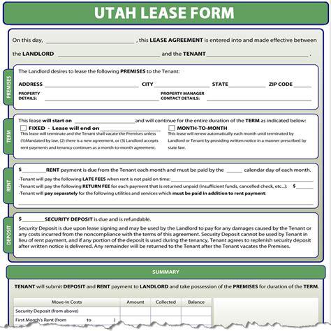 Residential Rental Application Utah Utah Lease