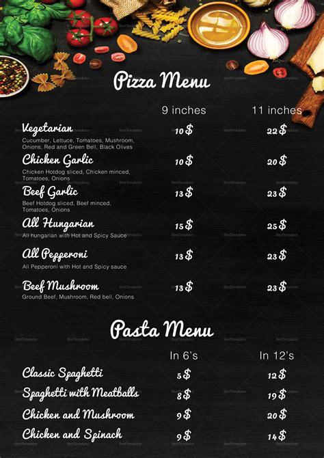 pizza menu template word pizza menu design template in psd word publisher
