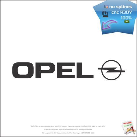 opel logo free dxf files car logos opel logo cnc dxf