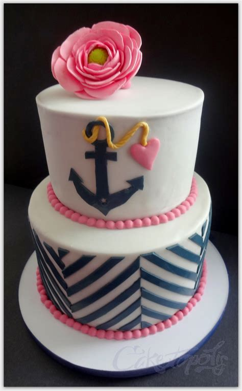 theme bridal shower cake 2 navy and pink bridal shower cake cakecentral