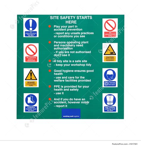 templates construction site rules stock photo i1917581