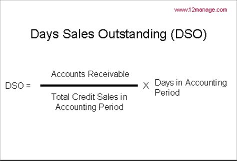 Formula For Credit Sales Days Sales Outstanding Dso Knowledge Center