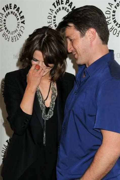 new year cookies nathan fillion faith quot stana and nathan don t like each
