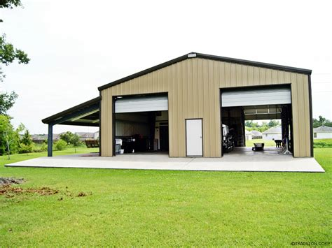 building plans for metal garage steel garage building with two high overhead doors and a