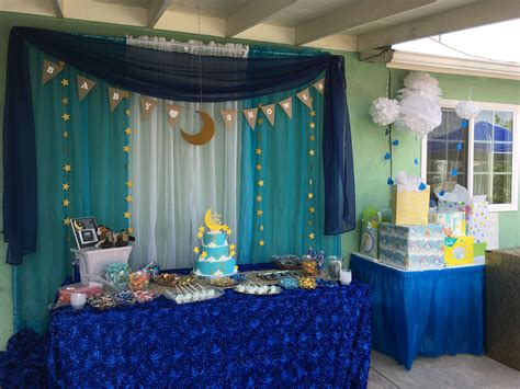 Moon And Baby Shower by Moon And Theme Boy Baby Shower Pj