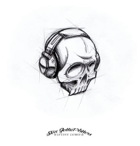 dj tattoo designs skull on tattoochief skull tattoos